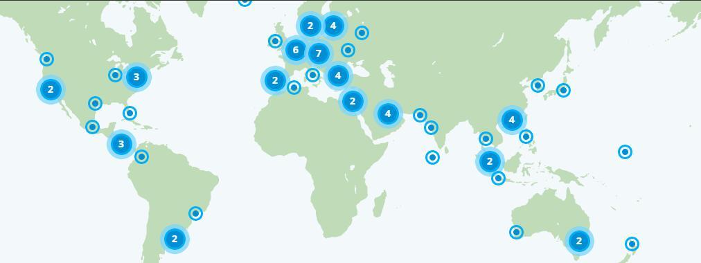 VyprVPN全球分布服务器位置介绍-世界各地最快的VPN